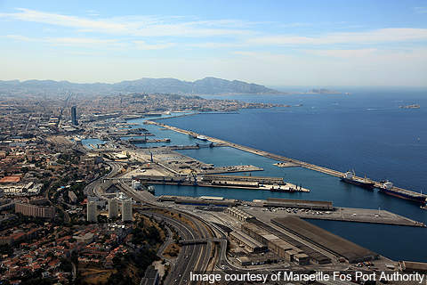 The Cananea open pit copper mine as seen from space.