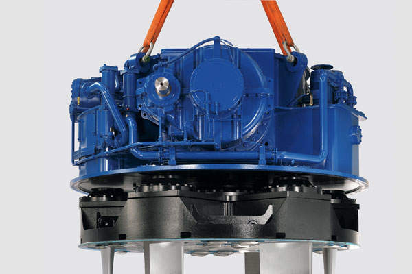 The conveyor belt is powered by two 3,800kW rated synchronous motors. Siemens press picture.
