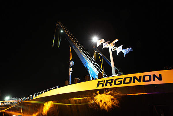 The mine site being test blasted for the open pit operations of the mine. Image courtesy of Swakop Uranium.