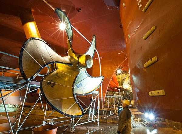 The main production shaft of the project being constructed. Image courtesy of Hudbay Minerals Inc.