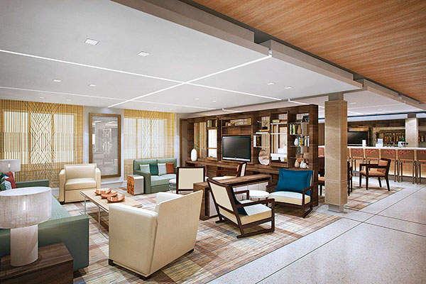 A view from the port office of the berth near the end of the 'super-pier' which is approximately 2.9km long.