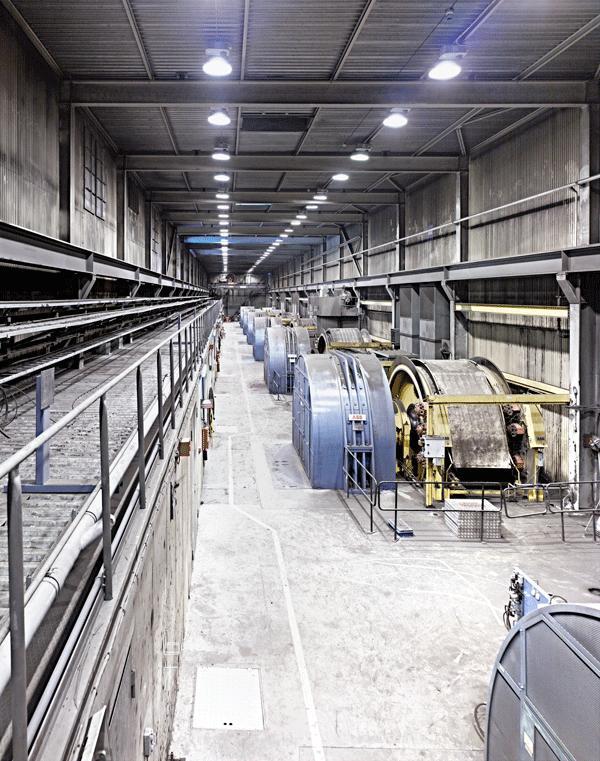 ABB mine hoist sweden