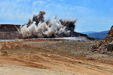 The usual method used in mining involves commercial explosives which are mainly made up of ammonium nitrate