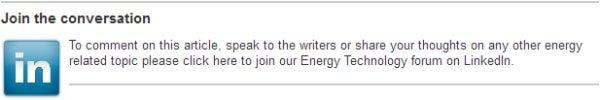 Energy Technology forum on LinkedIn