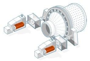 Dual pinion high-speed RMD