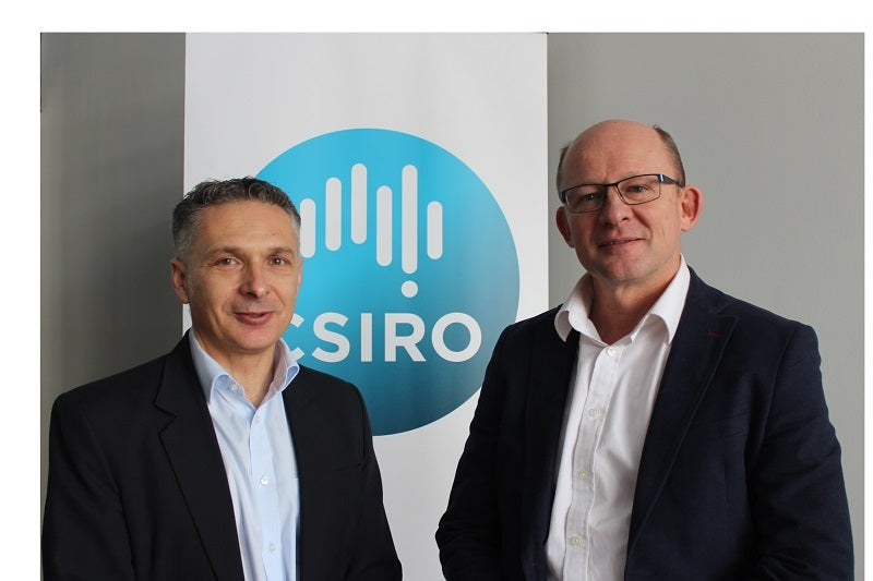 Gekko's Group Manager, Innovation and Collaboration, Richard Goldberg (left) and Jonathan Law, Director, CSIRO Mineral Resources.