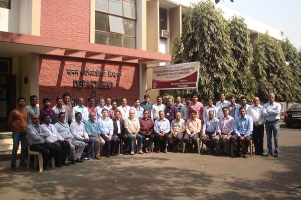 The workshop class at the Department of Mining Engineering, IIT Kharagpur, India, 7-10 February 2017.