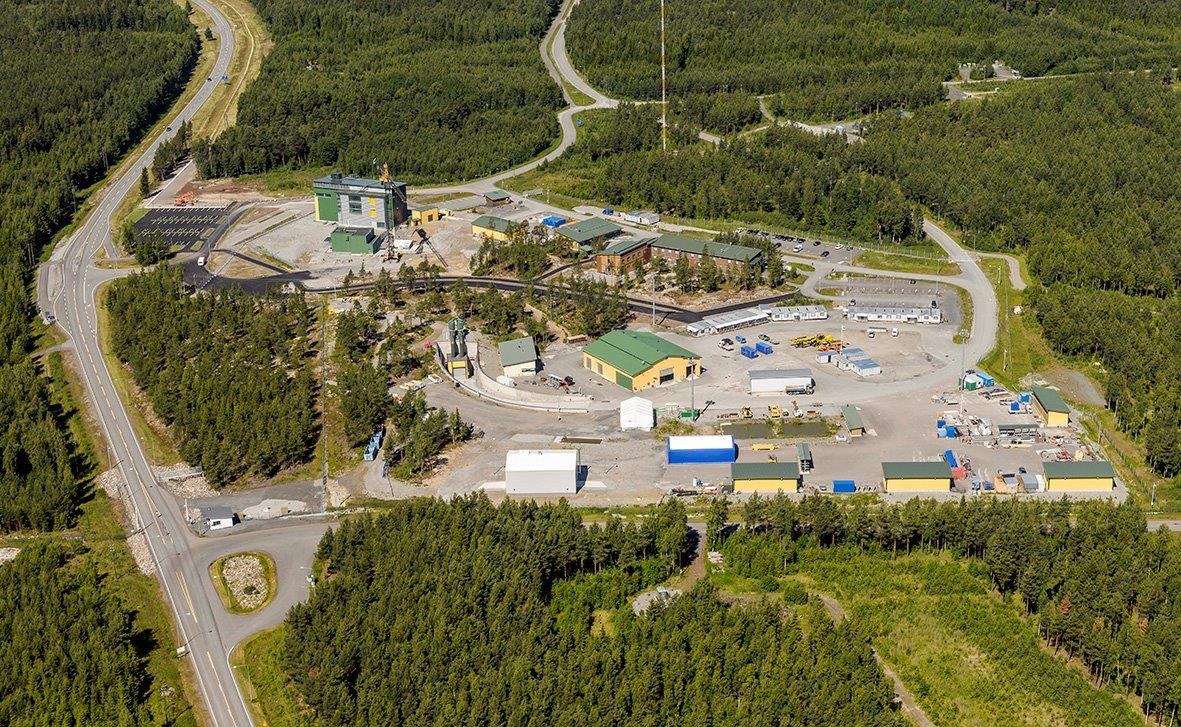 Aerial image of Posiva Oy's spent nuclear fuel disposal facility, which is under construction on the Finnish Island of Olkiluoto.