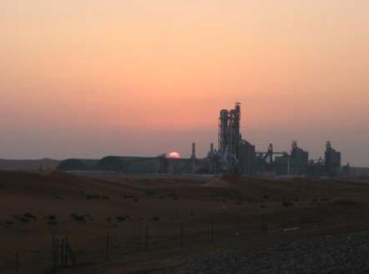 Cement Plant Sunset