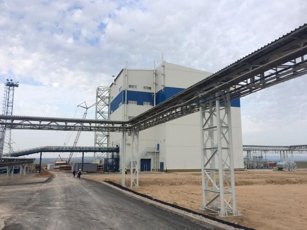 The EuroChem plant in Zhanatas where LOESCHE technology helps to produce phosphate fertilizers.