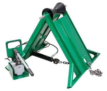 McElroy Hydraulically Adjusted Pipe Stand