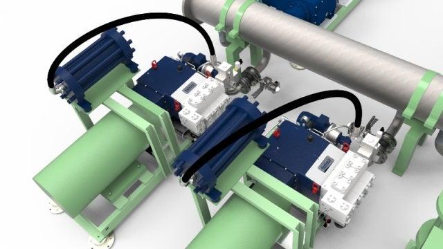 pipe testing press