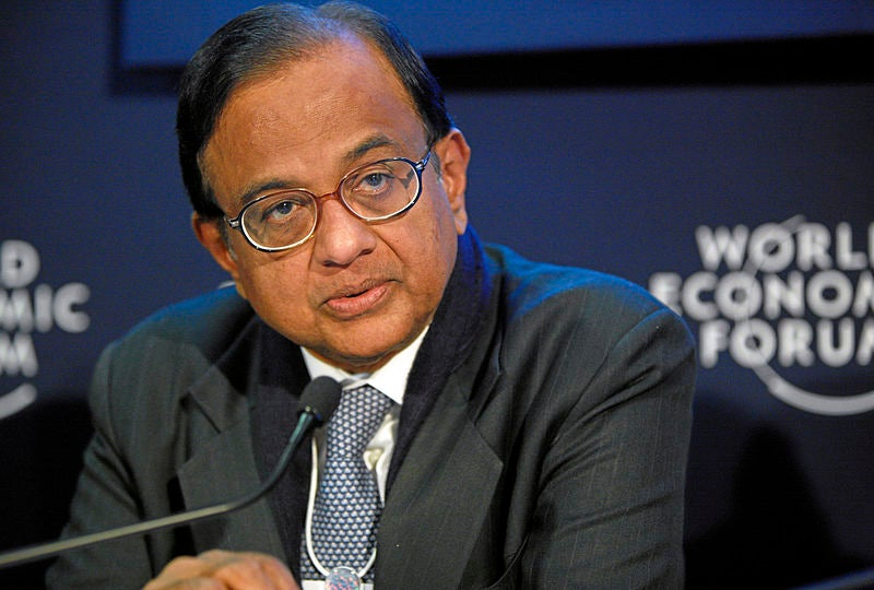 Indian Finance Minister P Chidambaram during the annual meeting of World Economic Forum in 2011