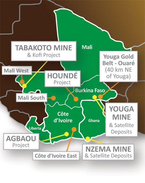 Endeavor gold mining in Africa