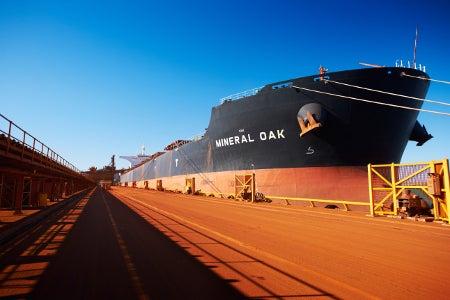 BHP iron ore shipping