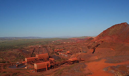 Iron ore mine in WA