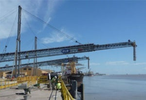 Thor Global's two telescopic ship loaders for Vale Mozambique's Beira coal terminal.